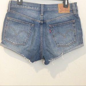 Levi's 501 Button Fly Hi-Rise Jean Shorts